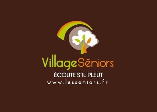 logotype village résidence séniors graphiste angers