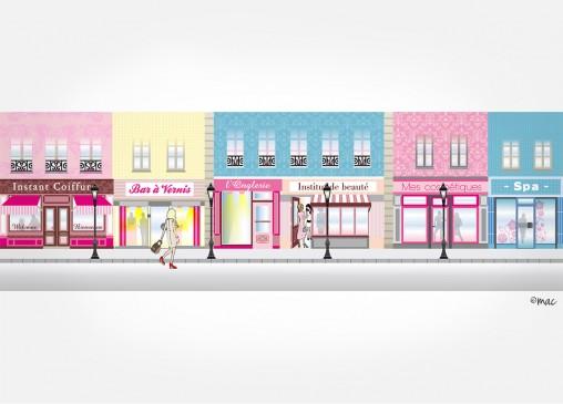 décor web illustration mode beauté magaliac