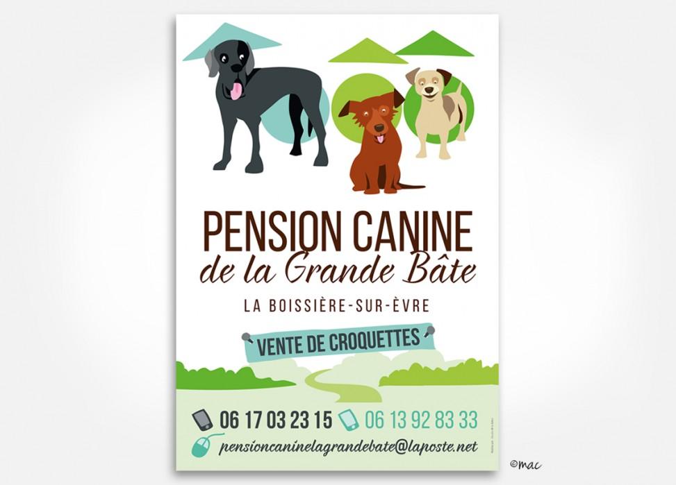 panneau signalétique pension canine magaliac graphiste