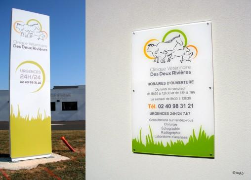 signalétique panneau totem clinique vétérinaire magaliac