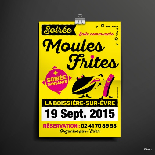 affiche moules frites association graphiste angers