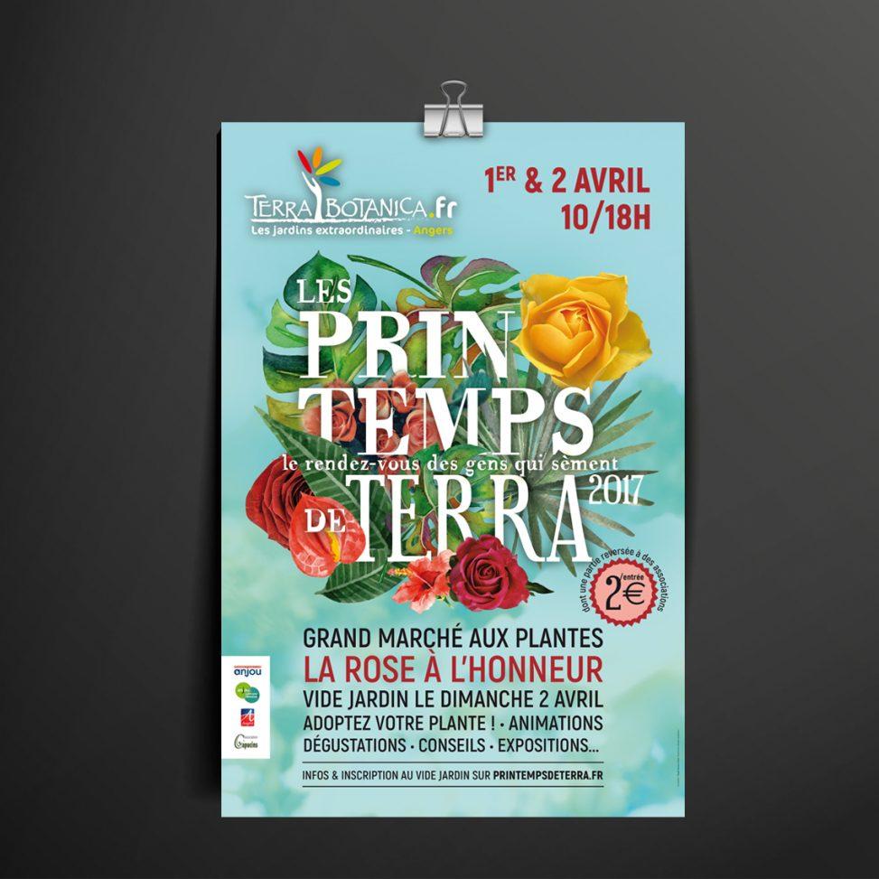 affiche fleurs végétal événement magali ac