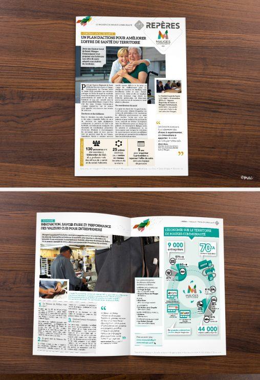 magazine brochure charte institutionnel magali ac