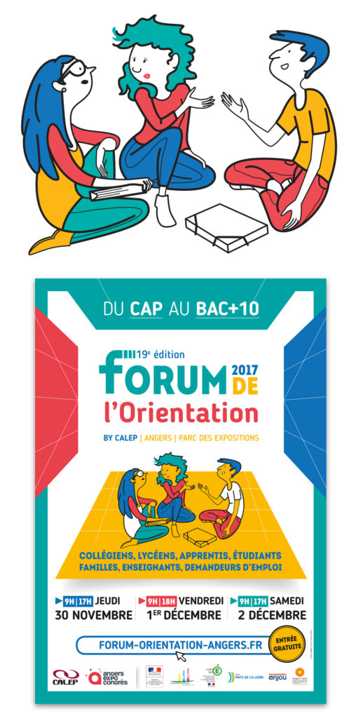 affiche forum graphiste Magali AC Angers