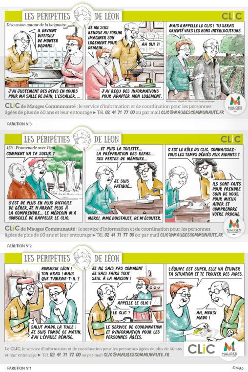 bande dessinée retraités croquis illustrateur magaliac