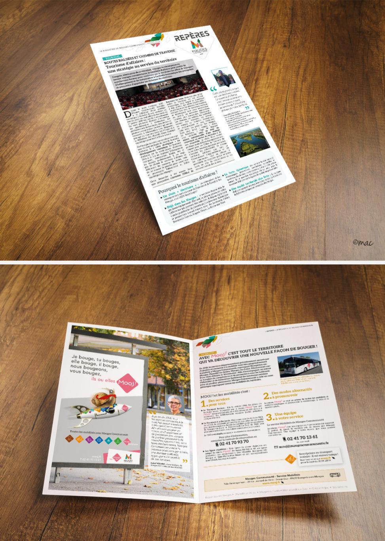 brochure magazine collectivité infographie graphiste magaliac