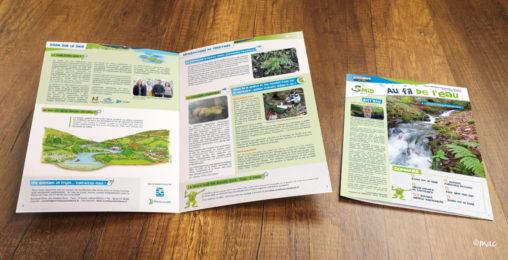 brochure riverains syndicat rivière graphiste Angers
