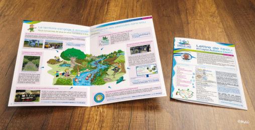 brochure syndicat rivière maquette graphiste magaliac