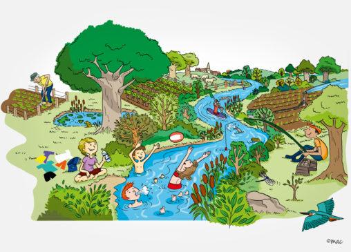 BD dessin syndicat rivière eau magaliac