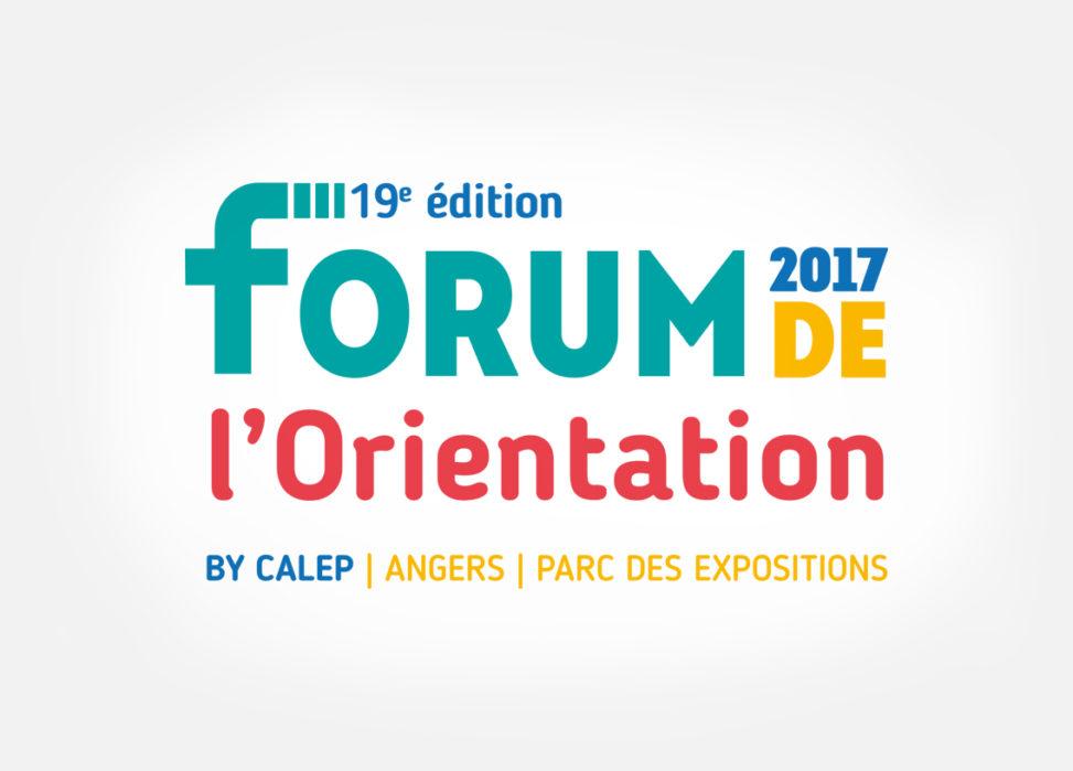 logotype événement Forum Orientation Angers graphiste
