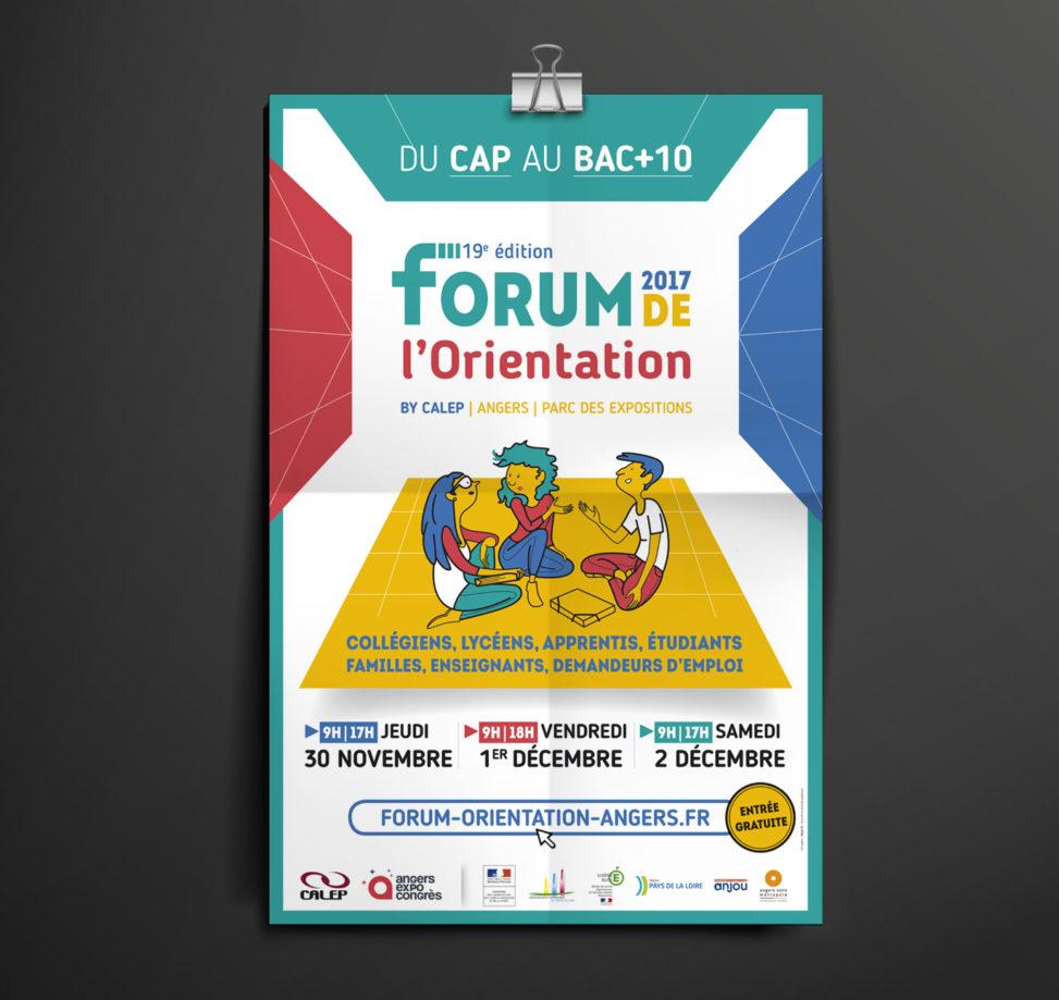 affiche forum orientation événement graphiste Angers