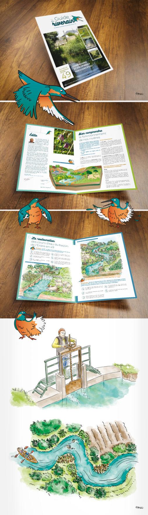 brochure syndicat rivière nature Magali AC
