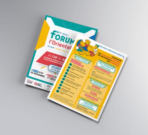 flyer forum orientation événement magaliac graphiste
