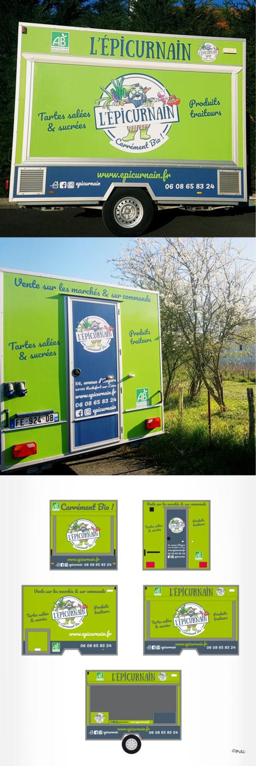 signalétique véhicule producteur traiteur bio magaliac