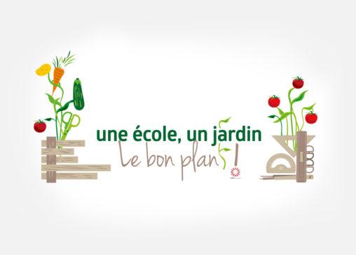 logo jardin légumes outils association magaliac