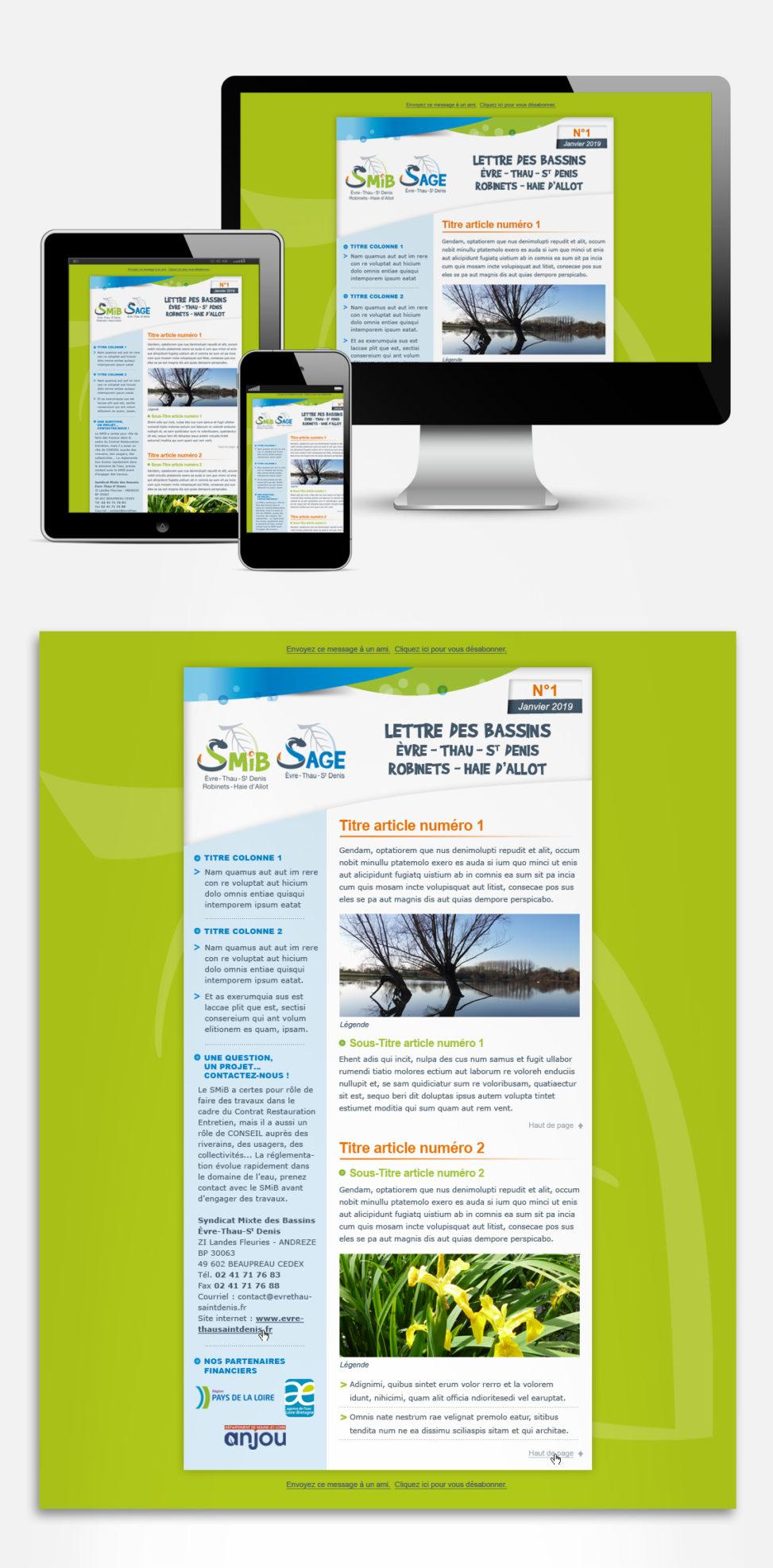 webdesign syndicat rivières nature magali ac