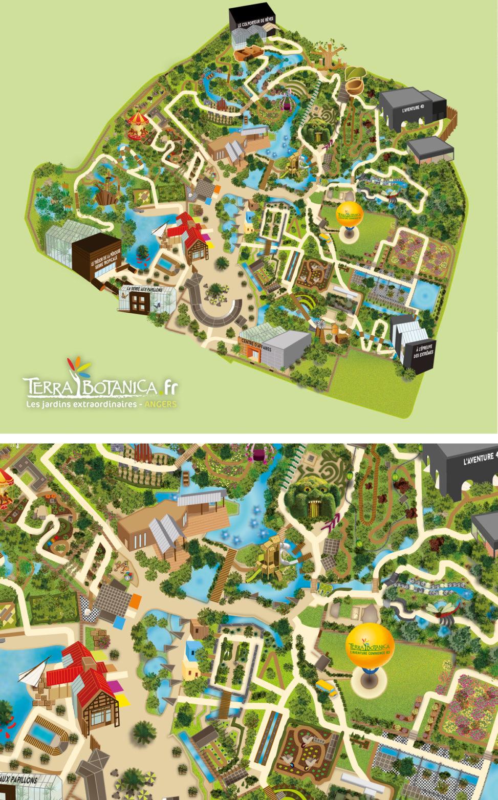 plan cartographie parc tourisme végétal magaliac