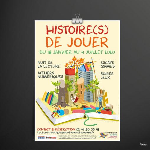 affiche événement culturel parents enfants service culture collectivité illustrateur Anegsr grphiste Angers magaliac