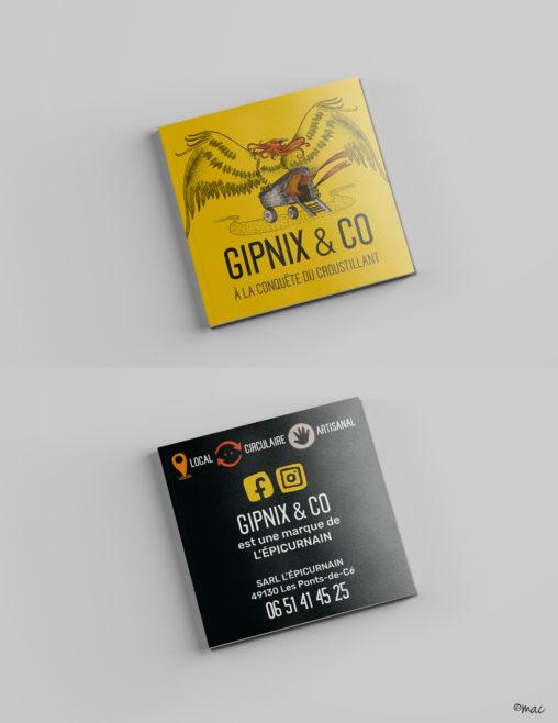 carte de visite crackers bio producteur bio Angers illustrateur graphiste magaliac couleurs jaune croustillant