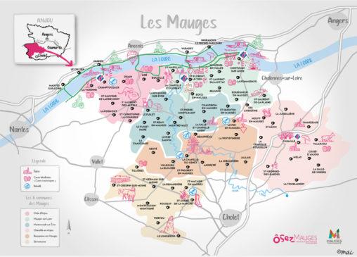 carte touristique territoire office de tourisme illustrateur graphiste Angers magaliac Les Mauges